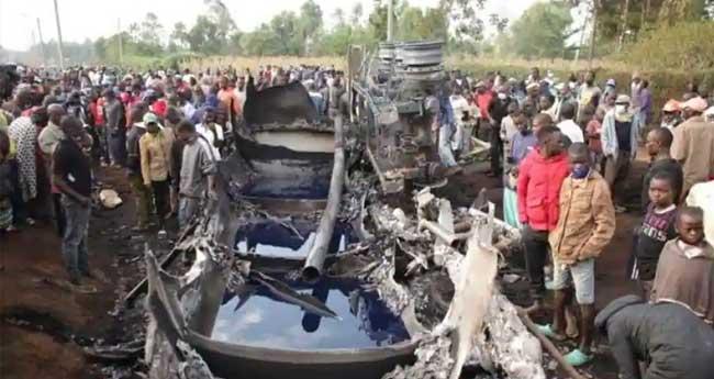 കെനിയയിൽ പെട്രോൾ ടാങ്കറിനു തീപിടിച്ച് 13 മരണം